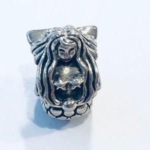 Pandora Mermaid, Sea, Ocean Charm, Sterling Silver
